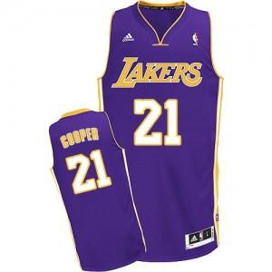 Los Angeles Lakers #21 Adidas Road Violet Swingman Maillot d'équipe de NBA Braderie - Michael Cooper pour Homme