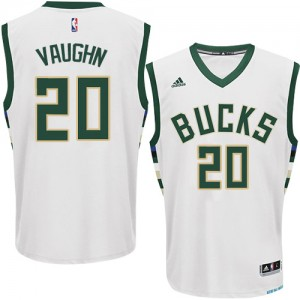 Maillot NBA Blanc Rashad Vaughn #20 Milwaukee Bucks Home Swingman Homme Adidas