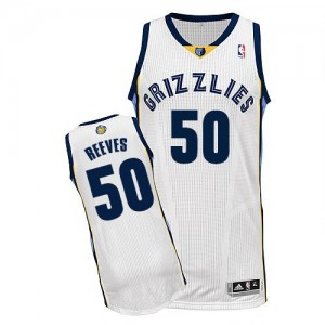 Maillot Adidas Blanc Home Authentic Memphis Grizzlies - Bryant Reeves #50 - Homme