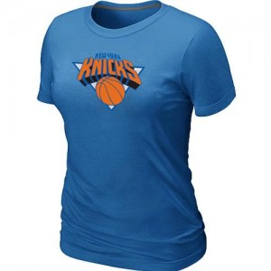 T-Shirts NBA New York Knicks Big & Tall Bleu clair - Femme