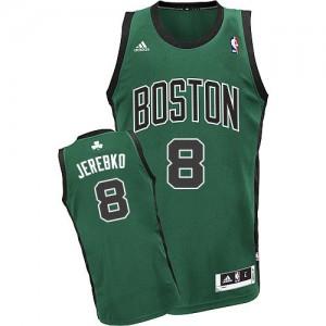 Maillot NBA Boston Celtics #8 Jonas Jerebko Vert (No. noir) Adidas Swingman Alternate - Homme