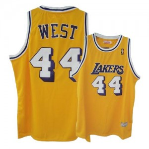 Maillot Swingman Los Angeles Lakers NBA Throwback Or - #44 Jerry West - Homme