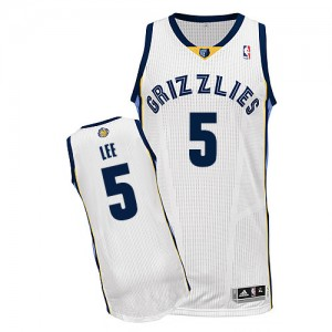 Memphis Grizzlies Courtney Lee #5 Home Authentic Maillot d'équipe de NBA - Blanc pour Homme