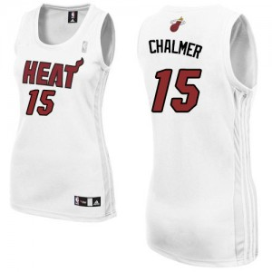 Maillot Adidas Blanc Home Authentic Miami Heat - Mario Chalmer #15 - Femme