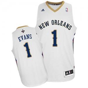 New Orleans Pelicans Tyreke Evans #1 Home Swingman Maillot d'équipe de NBA - Blanc pour Homme