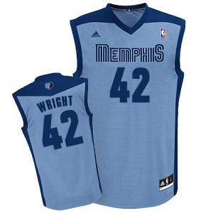 Memphis Grizzlies Lorenzen Wright #42 Alternate Swingman Maillot d'équipe de NBA - Bleu clair pour Homme