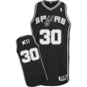San Antonio Spurs #30 Adidas Road Noir Authentic Maillot d'équipe de NBA pour pas cher - David West pour Homme