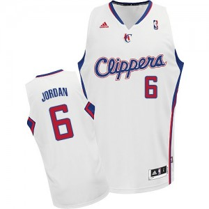 Maillot NBA Los Angeles Clippers #6 DeAndre Jordan Blanc Adidas Swingman Home - Homme