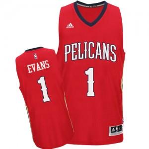 New Orleans Pelicans Tyreke Evans #1 Alternate Swingman Maillot d'équipe de NBA - Rouge pour Homme