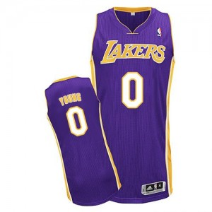 Maillot Authentic Los Angeles Lakers NBA Road Violet - #0 Nick Young - Homme