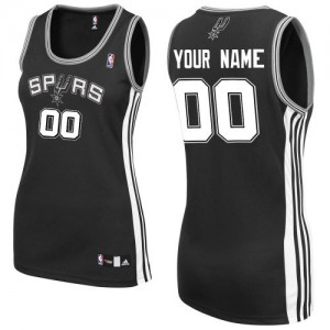 Maillot NBA Noir Authentic Personnalisé San Antonio Spurs Road Femme Adidas