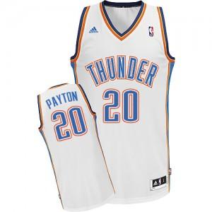Oklahoma City Thunder Gary Payton #20 Home Swingman Maillot d'équipe de NBA - Blanc pour Homme