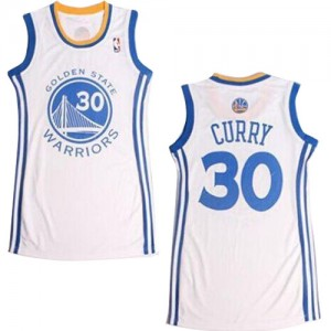 Maillot Adidas Blanc Dress Swingman Golden State Warriors - Stephen Curry #30 - Femme
