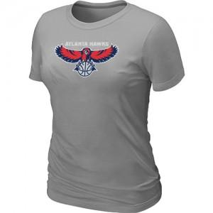Atlanta Hawks Big & Tall Gris T-Shirts d'équipe de NBA magasin d'usine - pour Femme