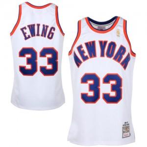 Maillot Swingman New York Knicks NBA Throwback Blanc - #33 Patrick Ewing - Homme