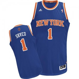 New York Knicks Alexey Shved #1 Road Swingman Maillot d'équipe de NBA - Bleu royal pour Homme