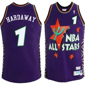 Maillot NBA Orlando Magic #1 Penny Hardaway Bleu Mitchell and Ness Authentic 1995 All Star Throwback - Homme