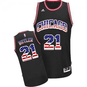 Maillot Swingman Chicago Bulls NBA USA Flag Fashion Noir - #21 Jimmy Butler - Homme