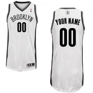 Maillot NBA Authentic Personnalisé Brooklyn Nets Home Blanc - Homme