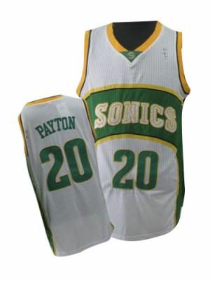 Oklahoma City Thunder Gary Payton #20 Throwback SuperSonics Authentic Maillot d'équipe de NBA - Blanc pour Homme
