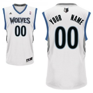 Maillot Adidas Blanc Home Minnesota Timberwolves - Swingman Personnalisé - Homme