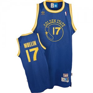 Golden State Warriors Chris Mullin #17 Throwback Swingman Maillot d'équipe de NBA - Bleu royal pour Homme