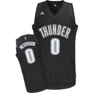 Maillot Swingman Oklahoma City Thunder NBA Noir Blanc - #0 Russell Westbrook - Homme