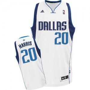 Maillot NBA Dallas Mavericks #20 Devin Harris Blanc Adidas Swingman Home - Homme