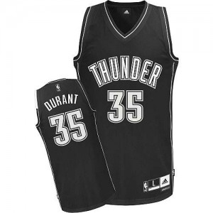 Maillot NBA Authentic Kevin Durant #35 Oklahoma City Thunder Shadow Noir - Homme