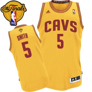 Maillot Authentic Cleveland Cavaliers NBA Alternate 2015 The Finals Patch Or - #5 J.R. Smith - Homme