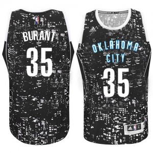 Maillot NBA Authentic Kevin Durant #35 Oklahoma City Thunder City Light Noir - Homme