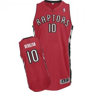 Maillot Adidas Rouge Road Authentic Toronto Raptors - DeMar DeRozan #10 - Homme