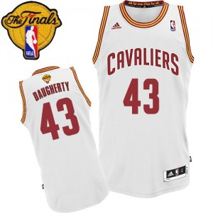 Maillot Swingman Cleveland Cavaliers NBA Home 2015 The Finals Patch Blanc - #43 Brad Daugherty - Homme