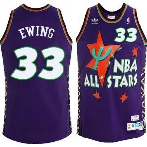 Maillot Swingman New York Knicks NBA All Star Throwback Bleu - #33 Patrick Ewing - Homme