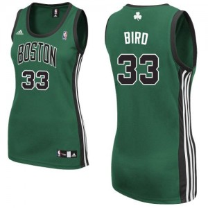 Maillot NBA Vert (No. noir) Larry Bird #33 Boston Celtics Alternate Swingman Femme Adidas
