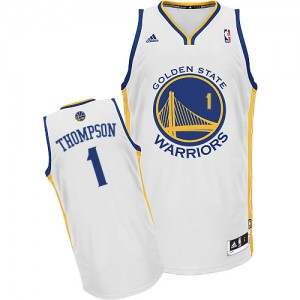 Maillot NBA Golden State Warriors #1 Jason Thompson Blanc Adidas Swingman Home - Homme