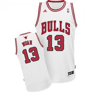 Maillot Adidas Blanc Home Swingman Chicago Bulls - Joakim Noah #13 - Homme