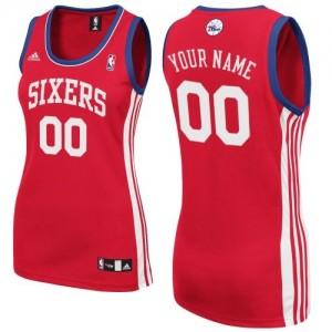 Maillot NBA Philadelphia 76ers Personnalisé Swingman Rouge Adidas Road - Femme
