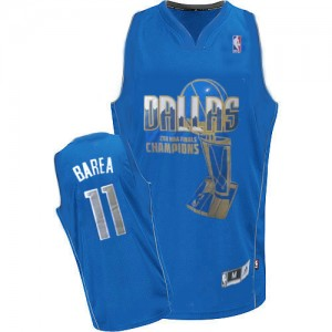 Maillot Authentic Dallas Mavericks NBA Finals Champions Bleu - #11 Jose Barea - Homme