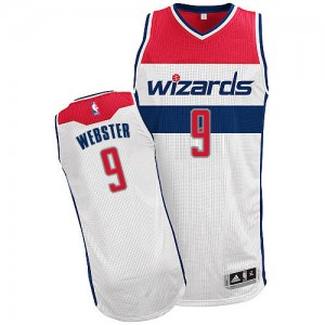 Maillot Authentic Washington Wizards NBA Home Blanc - #9 Martell Webster - Homme