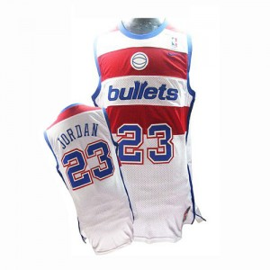 Maillot Nike Blanc Throwback Authentic Washington Wizards - Michael Jordan #23 - Homme
