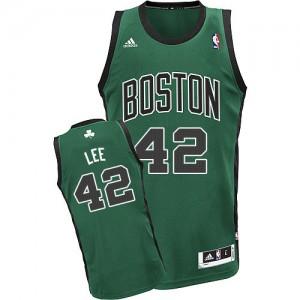 Boston Celtics David Lee #42 Alternate Swingman Maillot d'équipe de NBA - Vert (No. noir) pour Homme