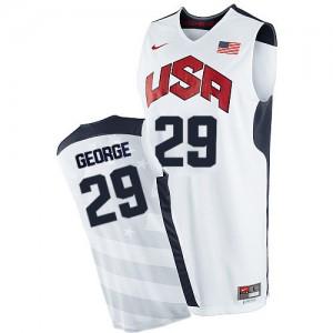 Team USA #29 Nike 2012 Olympics Blanc Authentic Maillot d'équipe de NBA Vente pas cher - Paul George pour Homme
