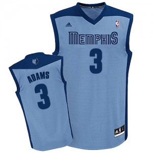 Memphis Grizzlies Jordan Adams #3 Alternate Swingman Maillot d'équipe de NBA - Bleu clair pour Homme