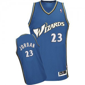 Maillot Authentic Washington Wizards NBA Bleu - #23 Michael Jordan - Homme