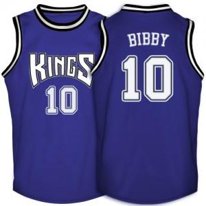 Maillot NBA Sacramento Kings #10 Mike Bibby Violet Adidas Swingman Throwback - Homme