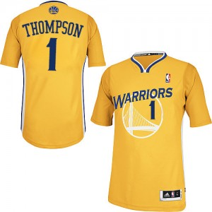 Maillot NBA Golden State Warriors #1 Jason Thompson Or Adidas Authentic Alternate - Homme