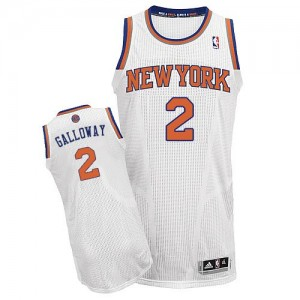 New York Knicks #2 Adidas Home Blanc Authentic Maillot d'équipe de NBA en ligne - Langston Galloway pour Homme