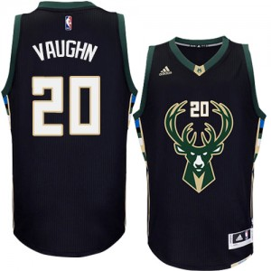 Maillot NBA Noir Rashad Vaughn #20 Milwaukee Bucks Alternate Authentic Homme Adidas