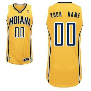 Indiana Pacers Personnalisé Adidas Alternate Or Maillot d'équipe de NBA Vente - Authentic pour Femme